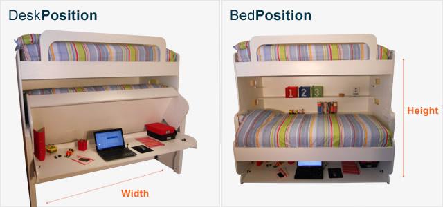 Kids Bunk Hidden Bed