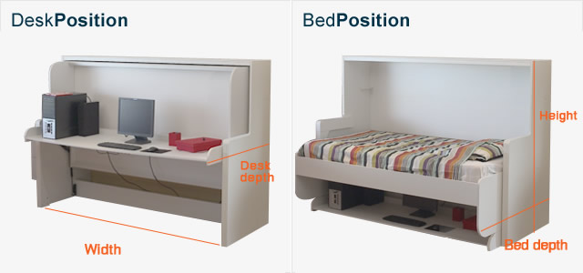 Foldaway Desk Bed Hiddenbed New Zealand